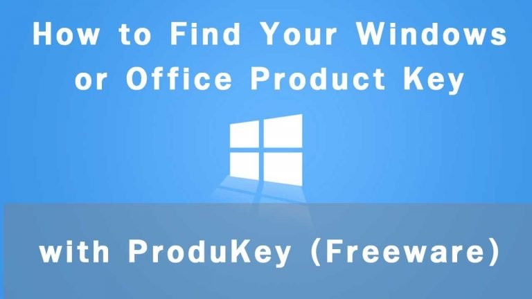 ProduKey : Utility to find Product Key